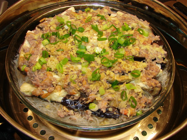 Chinese steamed pork mince recipe