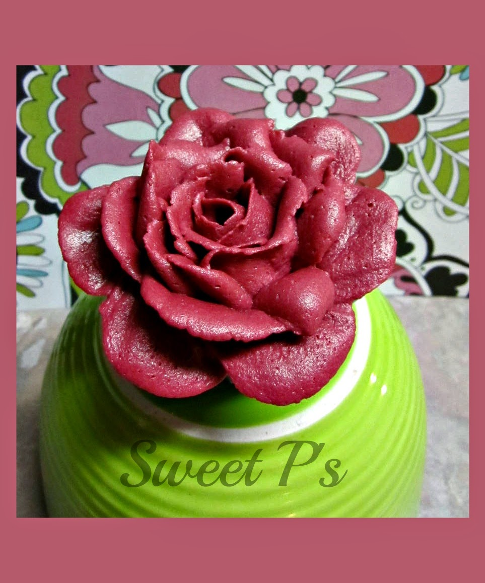 giant rose cupcake