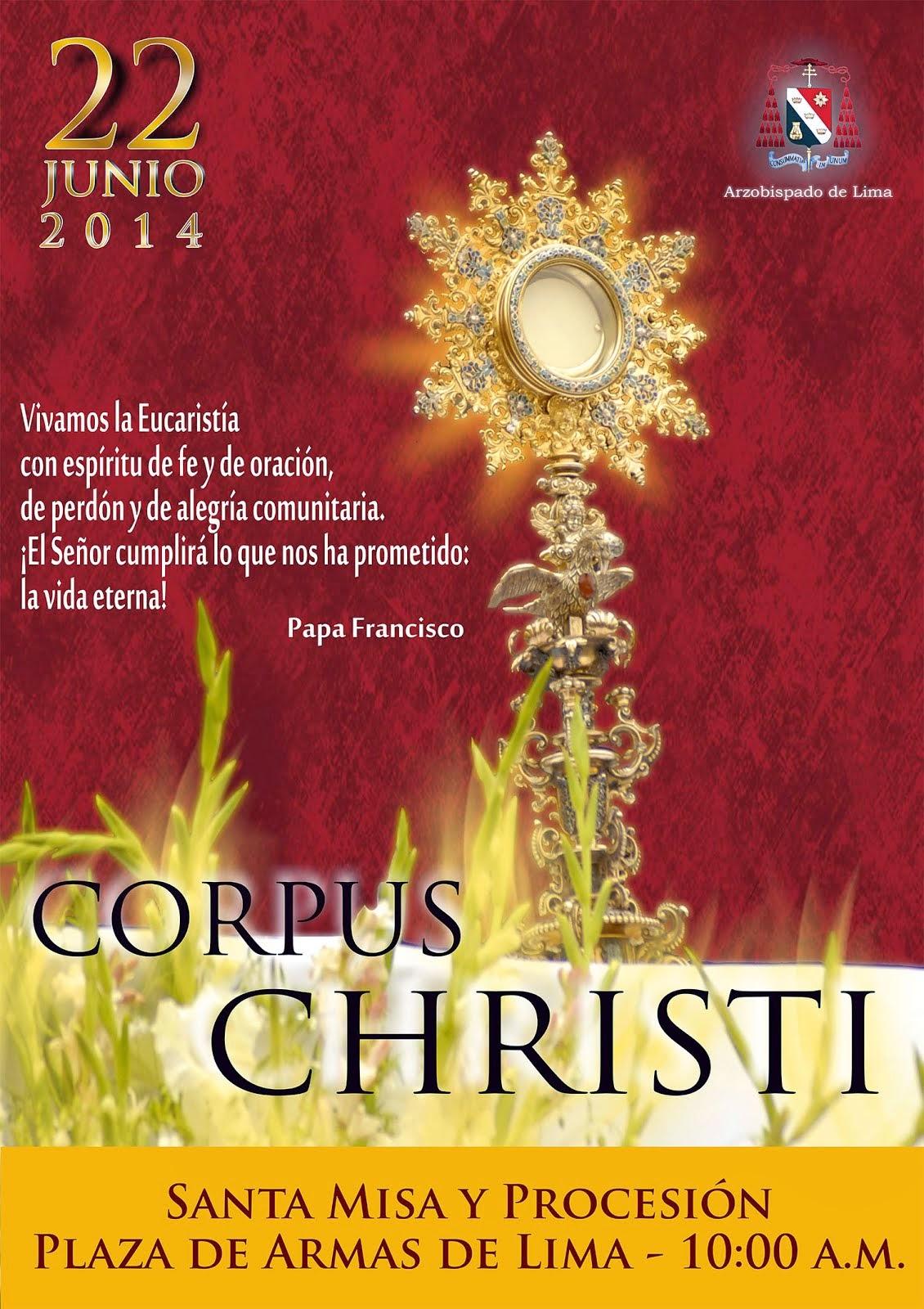 Corpus Christi en Lima 2014
