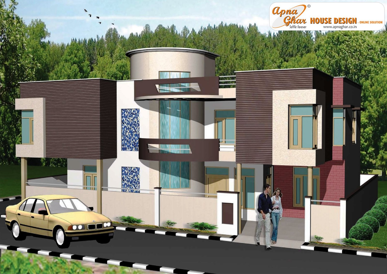 House Plans, House Design, Front Elevation, Costomized House Plan