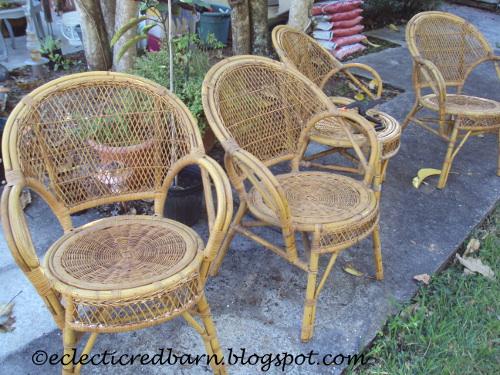 tan wicker chairs