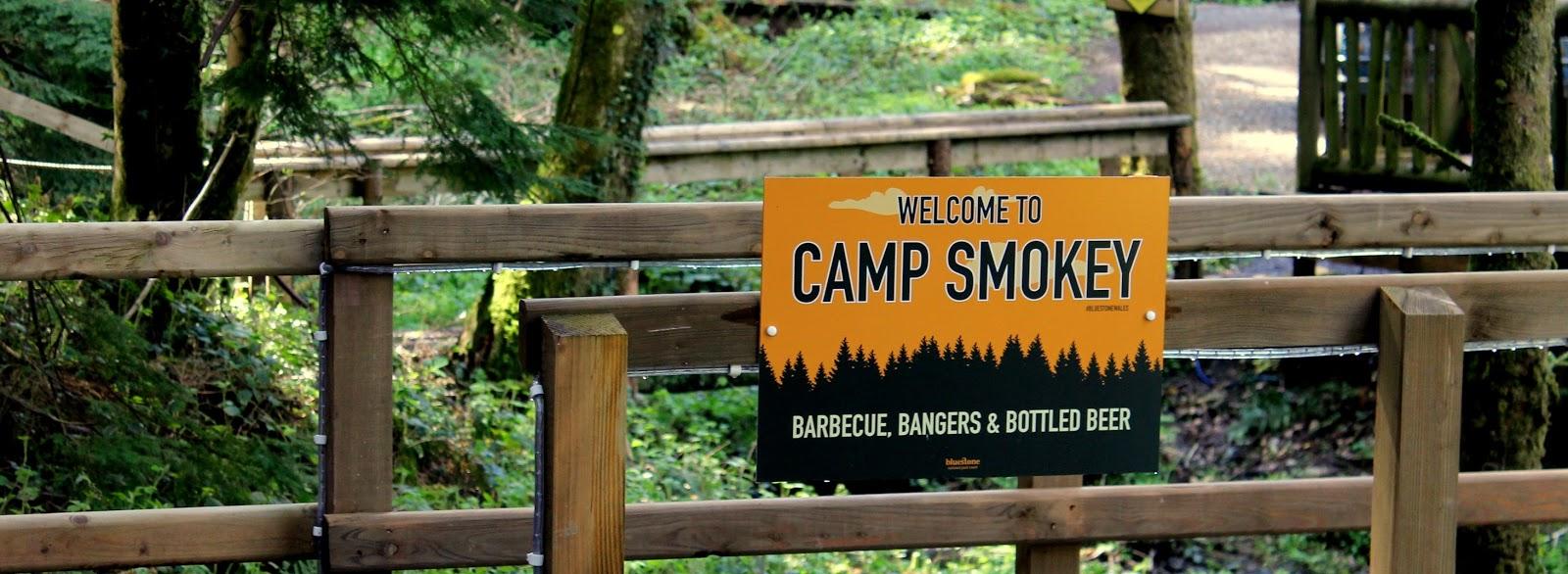 camp smokey sign at bluestone wales