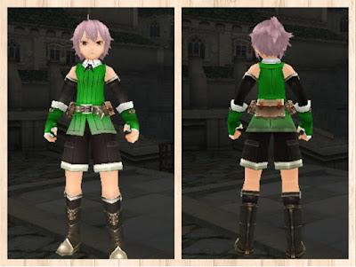 冒険者の服 緑色1(男)