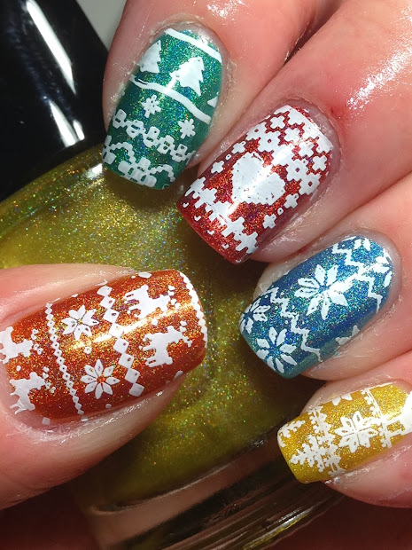 canadian nail fanatic ugly sweater