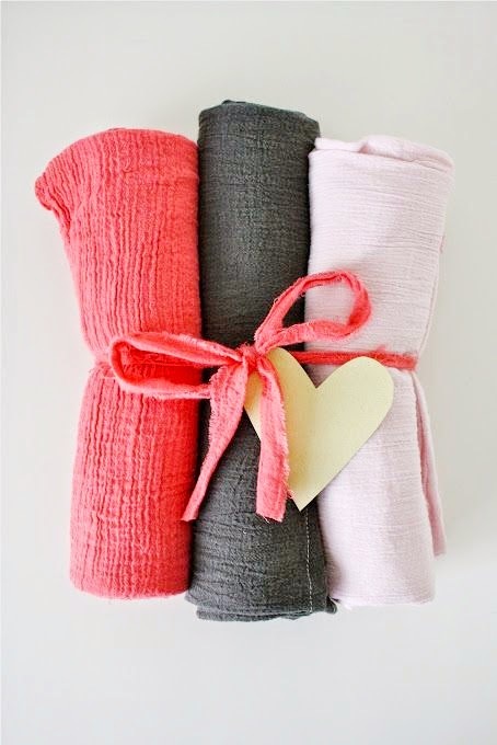 Gauze Swaddle Blanket Tutorial by MADE - TONS of baby blanket tutorials!