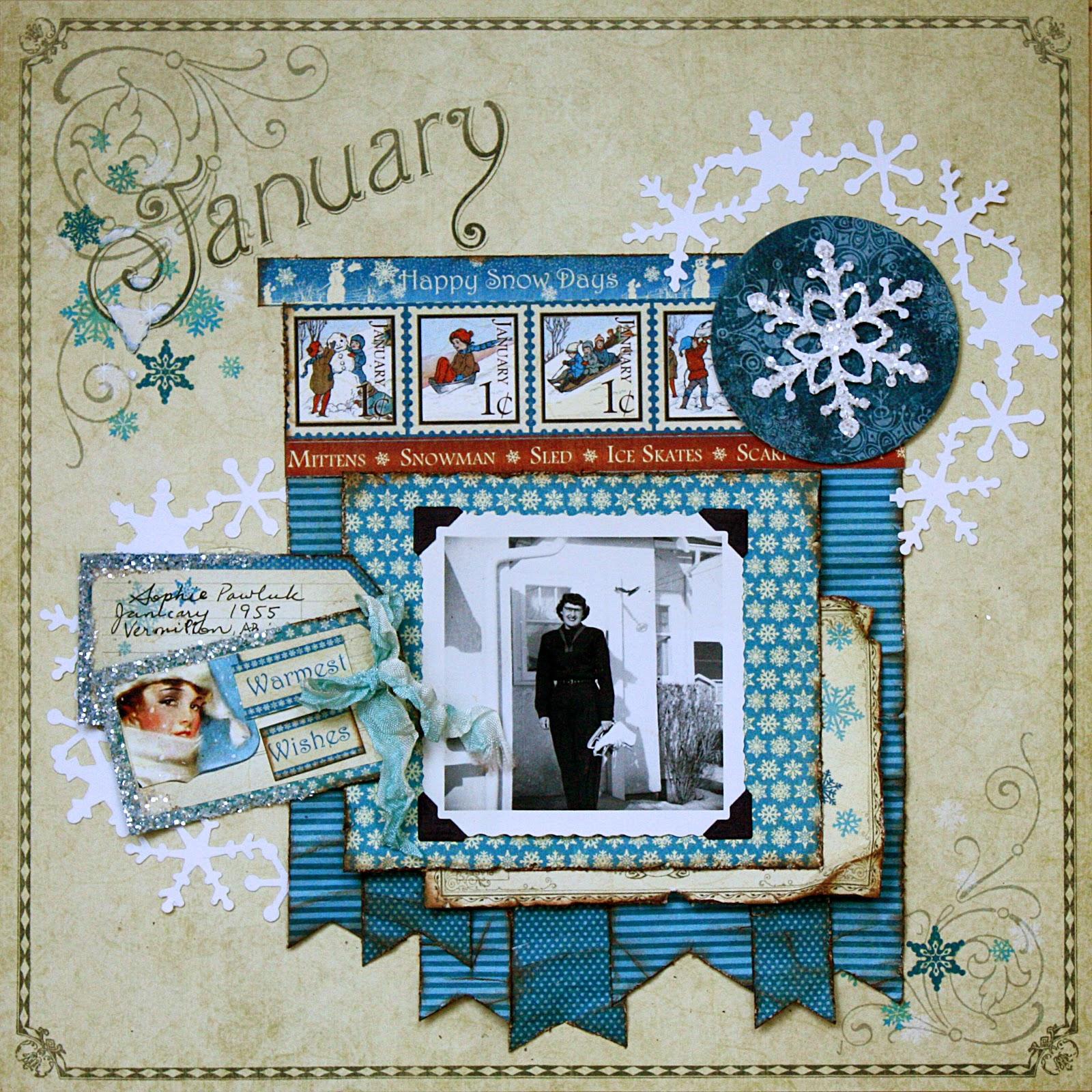 January scrapbook ideas - January