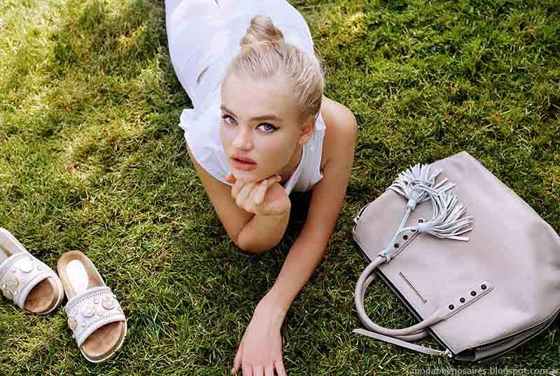 Carteras y calzado femenino primavera verano 2015. Moda verano 2015.
