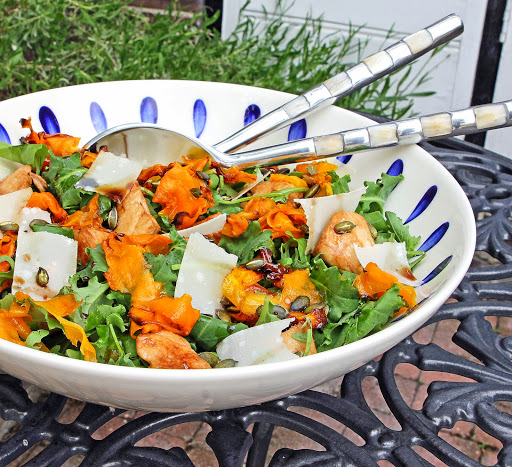 ... Baby Kale, Honey-Roast Butternut, Chicken, Parmesan & Pine Nut Salad