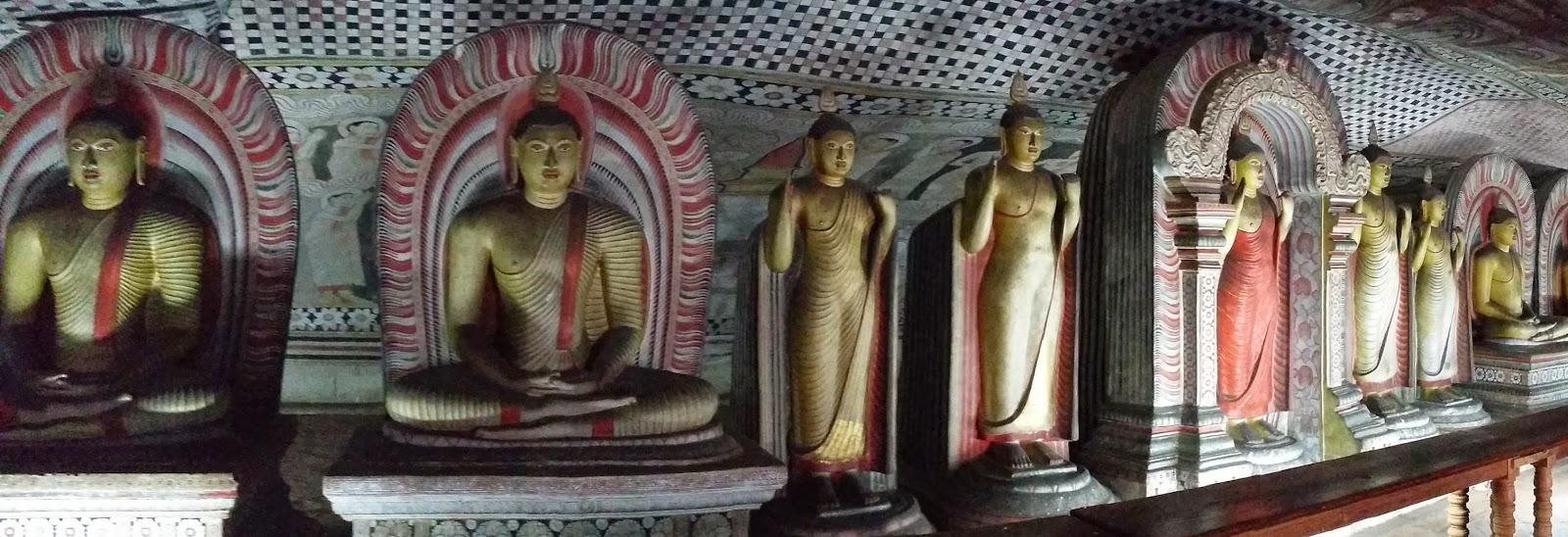 Interior de las Cuevas de Dambulla (Sri Lanka)