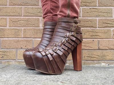 Jeffrey Campbell brown wrecker boots