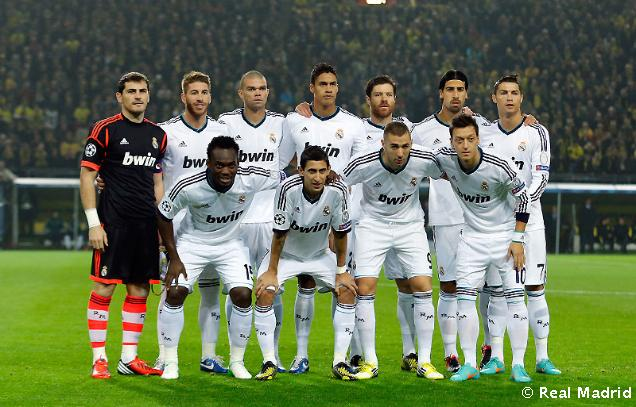 Once titular Real Madrid 2013: Casillas, Ramos, Pepe, Varane, Arbeloa