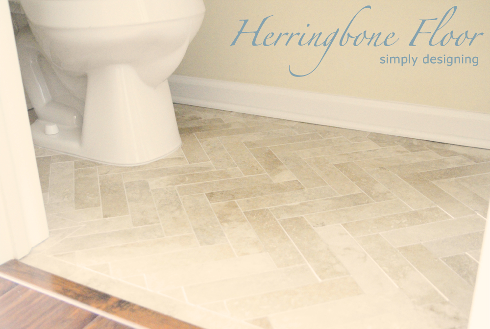 Herringbone Tile Floors | a complete tutorial for laying tile flooring and herringbone tile flooring | #diy #tile #tilefloors #thetileshop #herringbone @thetileshop