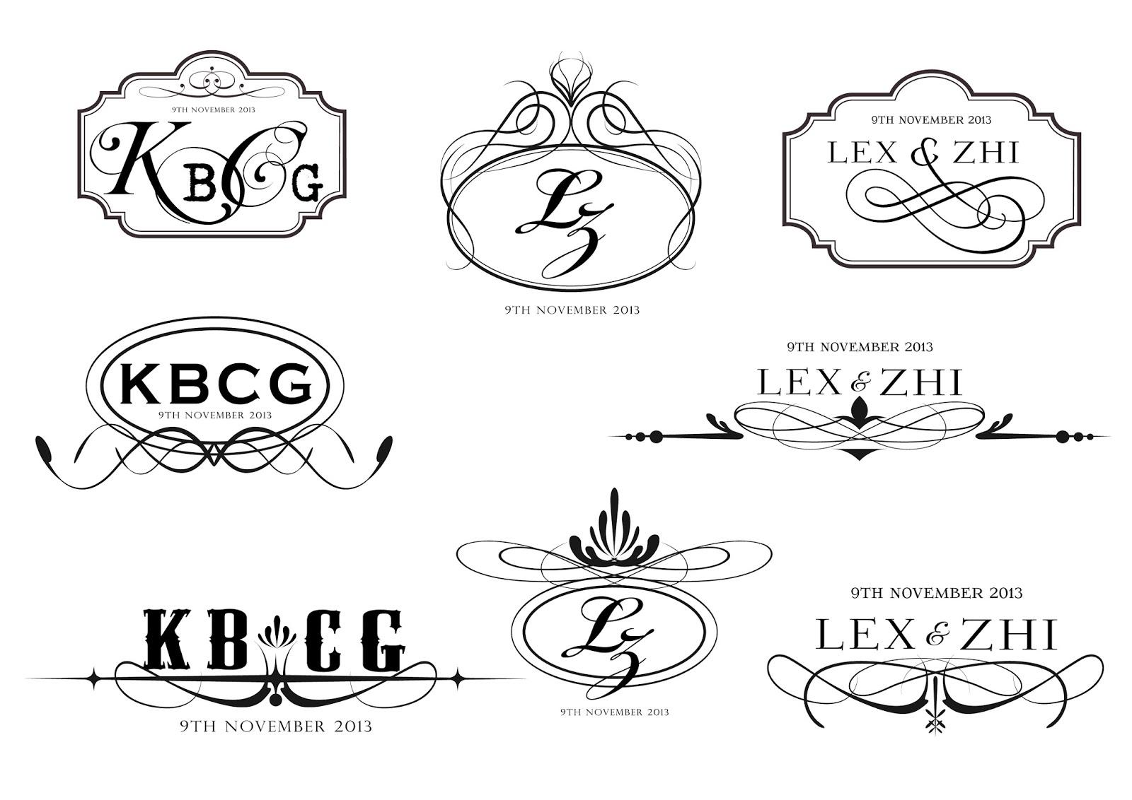 aj diy wedding wedding logo