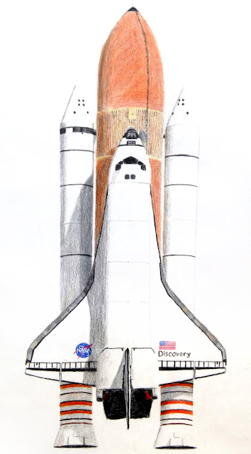 Space shuttle drawing