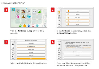 Instructions for registering Wii U