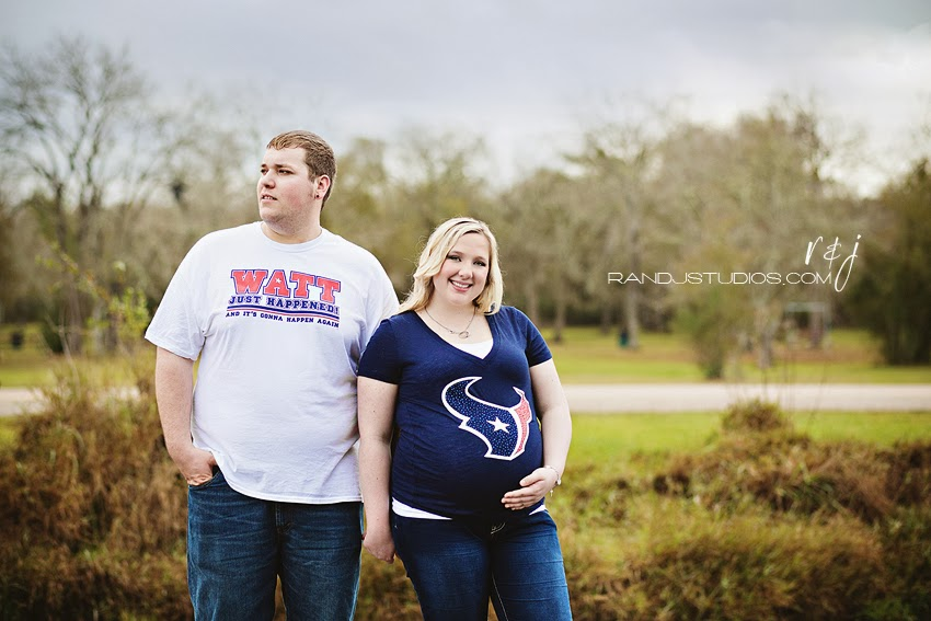 Texans Maternity Photography Texan Fans Watt