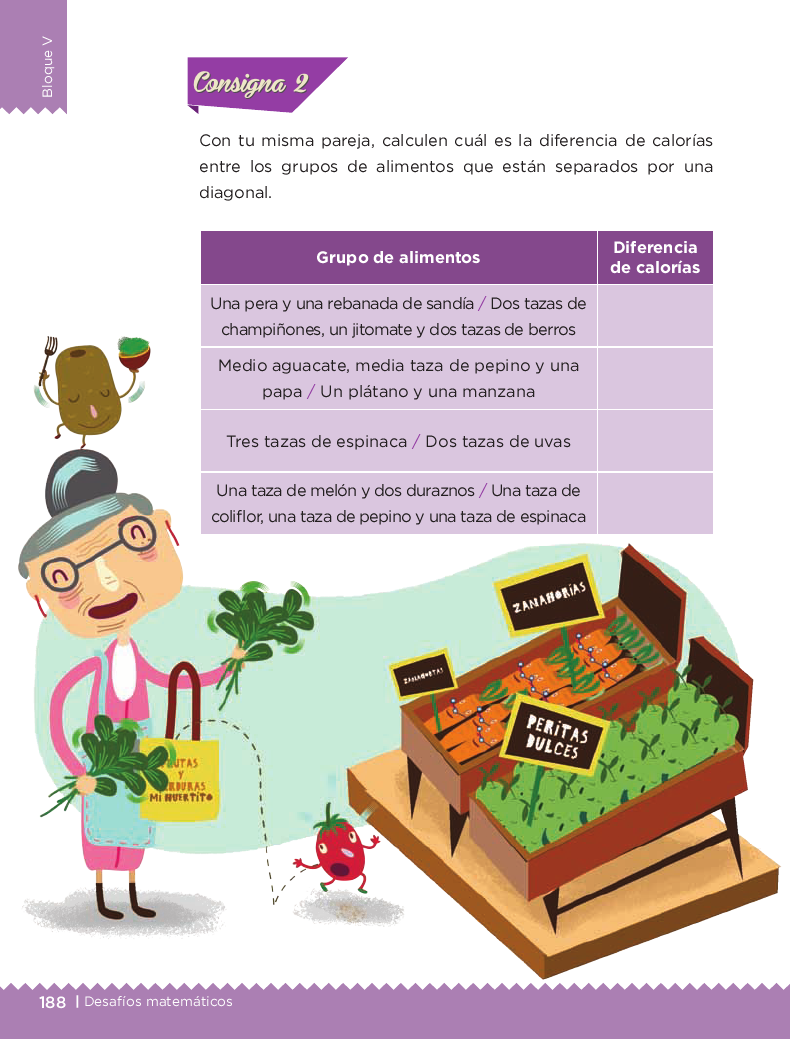 De frutas y verduras - Desafios matemáticos 4to Bloque 5 2014-2015