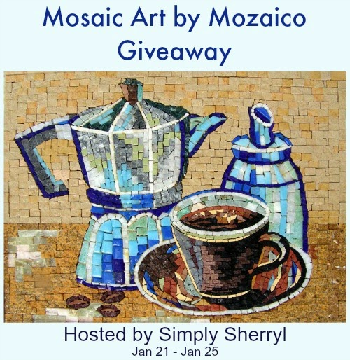 Enter the Mosaic Art by Mozaico Giveaway. Ends 1/25/15