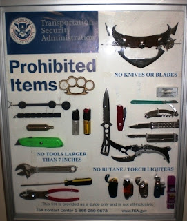 Display of Prohibited Items Found At ACY