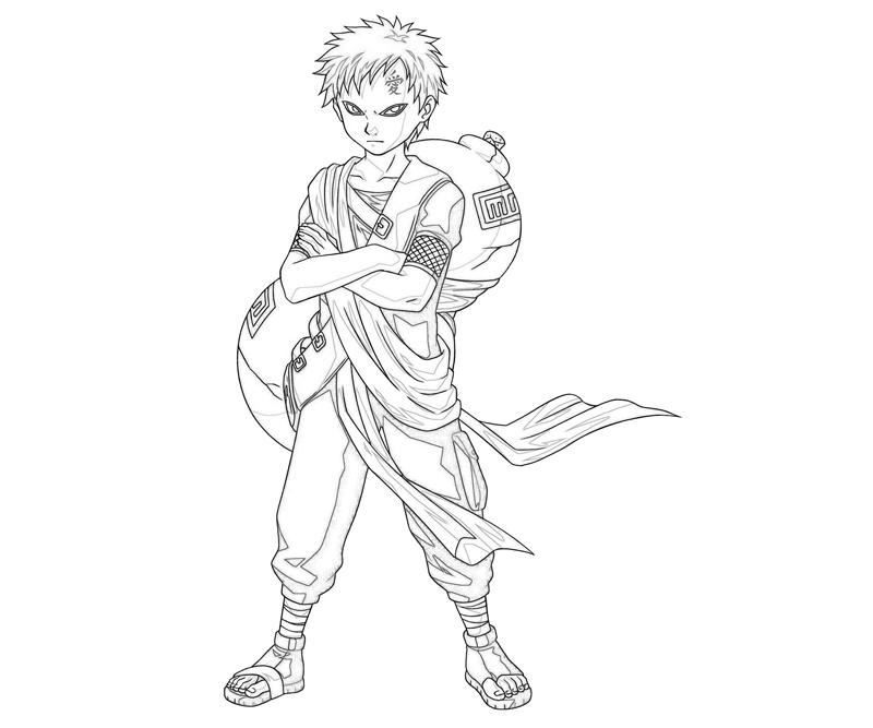 gaara coloring pages - photo#3