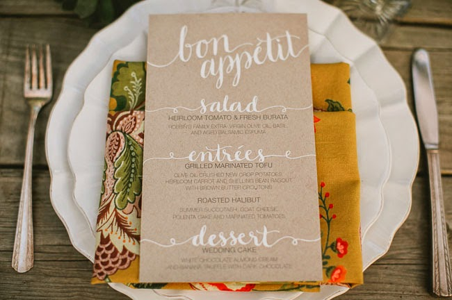 12 Party Ways To Use Calligraphy; menu