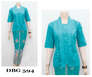 Model Baju Dress Muslim Biru Muda