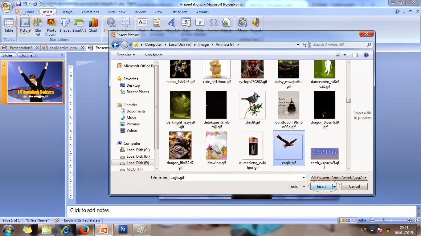 teks, gambar, animasi, bergerak, slide, contoh, microsoft, powerpoint