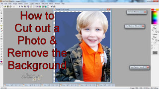 how to cut out a area from a photograph