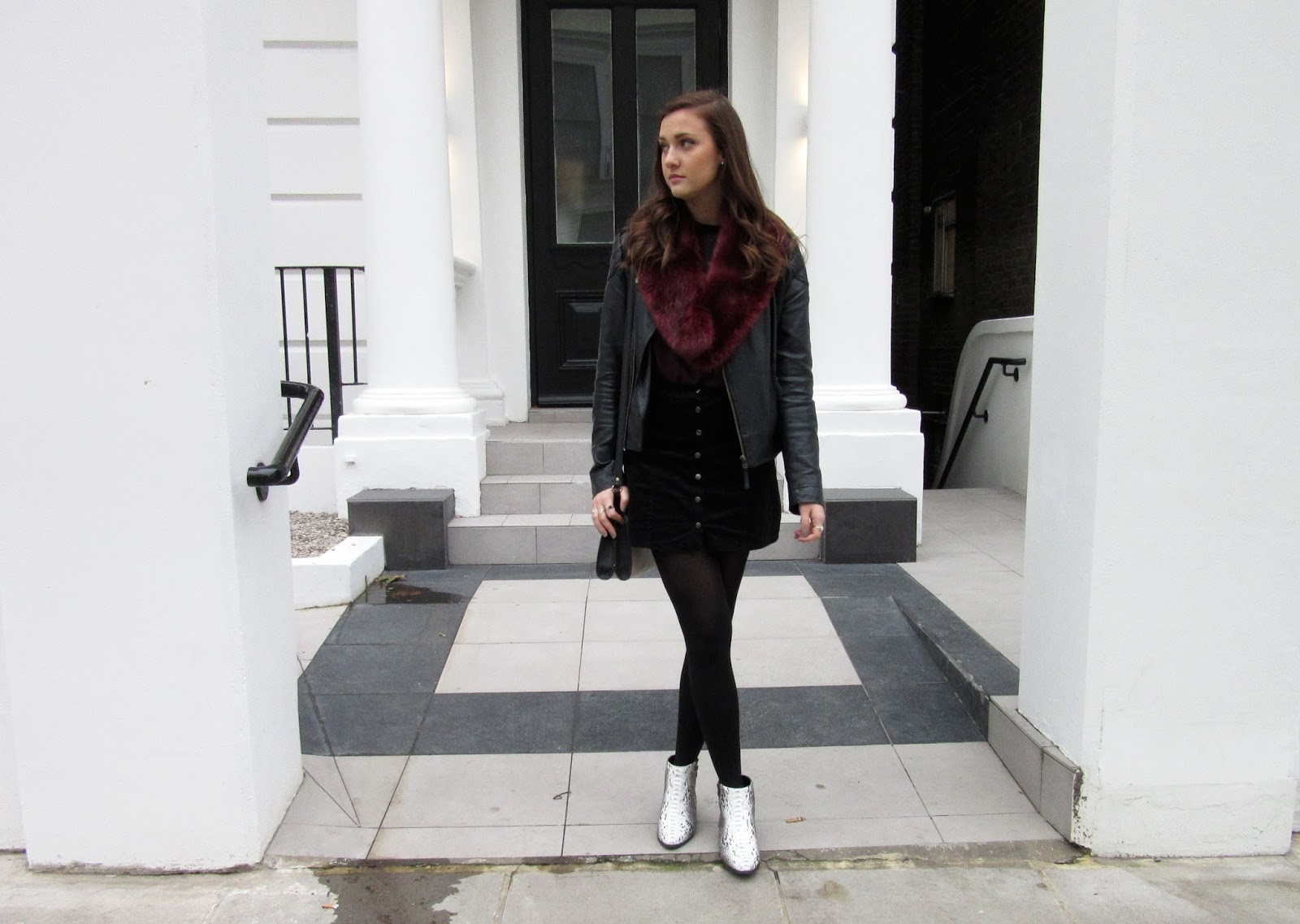 Saturday in Notting Hill // Monochrome Outfit OOTD WIWT // Lauren Rose Fashion Style Blogger London