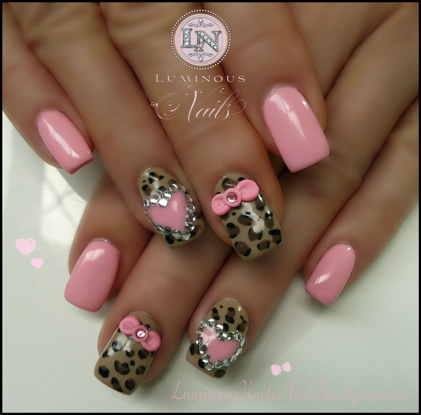 Adorable Nail Designs: Luminous Nails: February 2013