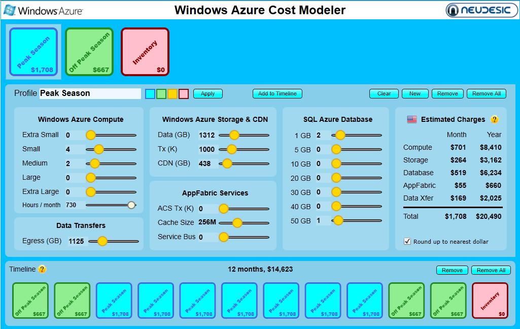 azure machine pricing