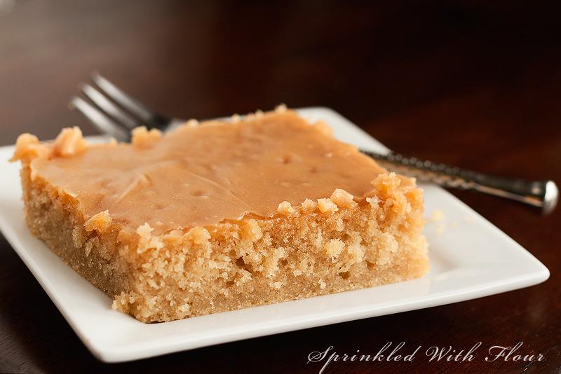 Peanut Butter Texas Sheet Cake Sour Cream