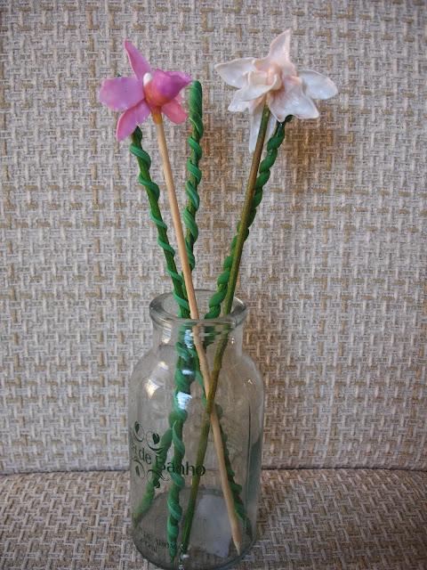 Orquídea, flor em biscuit
