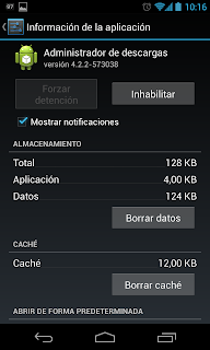 Administrador de Descargas Android error google.process.gapps play store