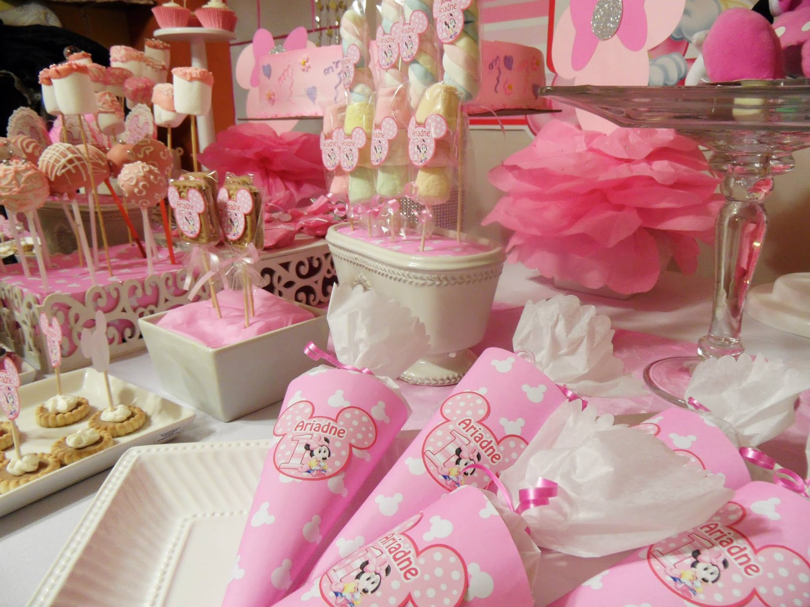 Fiesta primer a ito al estilo minnie de disney baby shower - Fiesta baby shower nina ...
