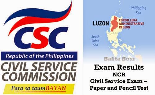 Cordillera Administrative Region - Civil Service Exam Results