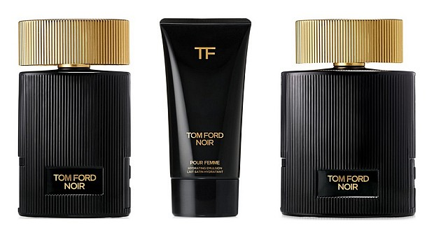 Tom Ford Noir Pour Femme (od lewej: 50 mL, emulsja do ciała, 100 mL)
