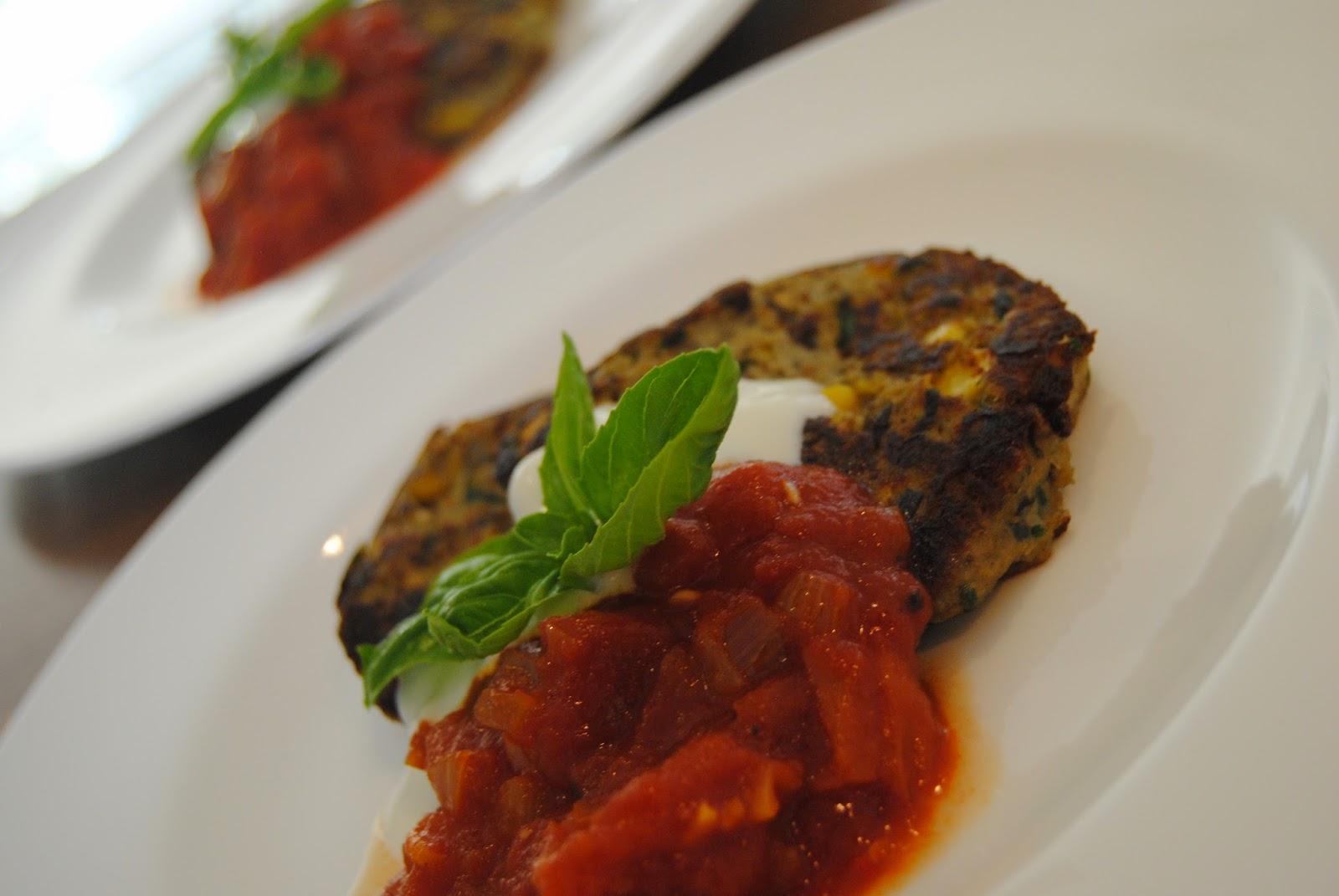 Rezept Auberginentaler mit Tomatendip