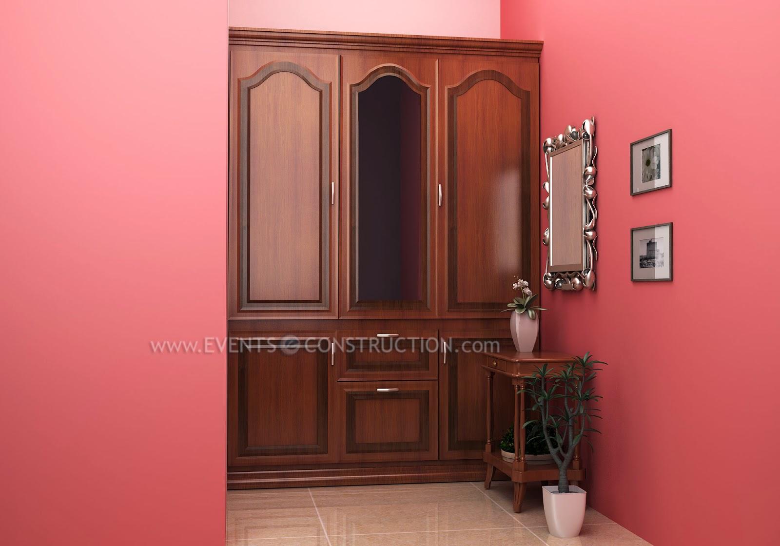 Evens construction pvt ltd wooden wardrobe design for Dressing area designs