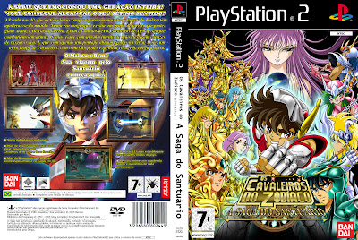Saint Seiya A Saga Do Santuário PS2 DVD Capa