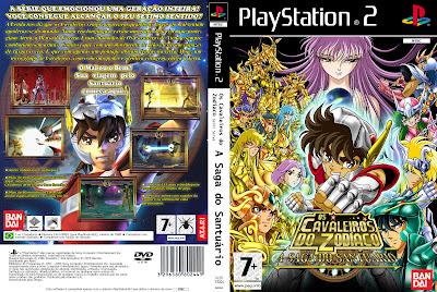 Saint Seiya A Saga Do Santuário PS2 DVD Capa