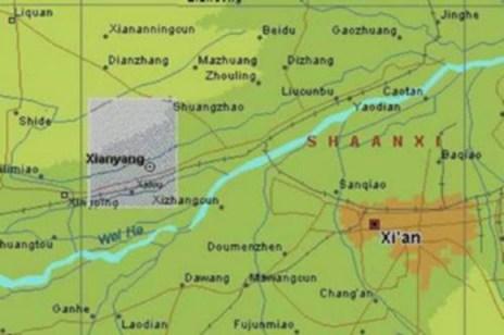 Lugar donde se encuentra el complejo de pirámides en China