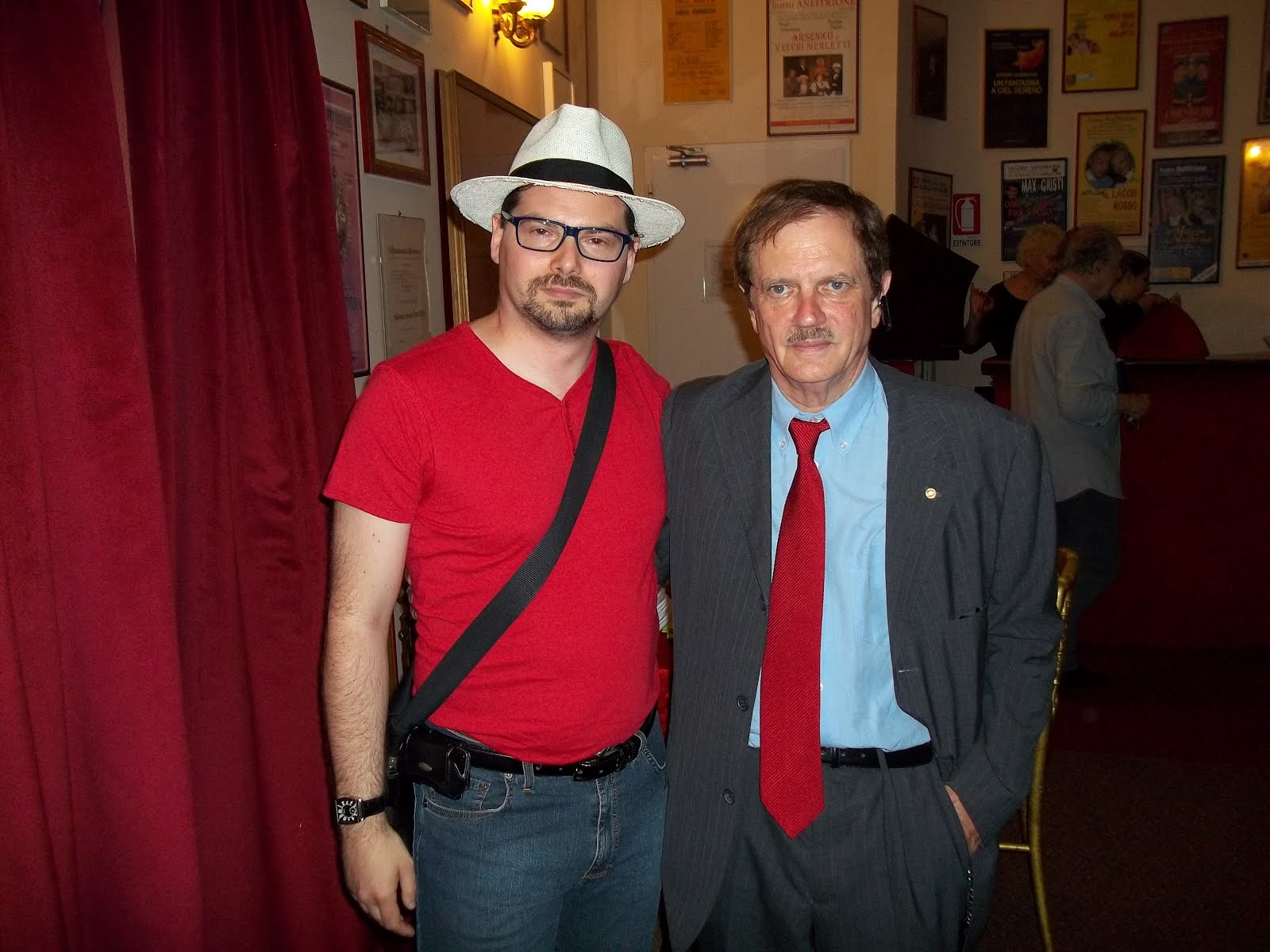 Luca Bagatin con Luigi Pruneti (giugno 2017)