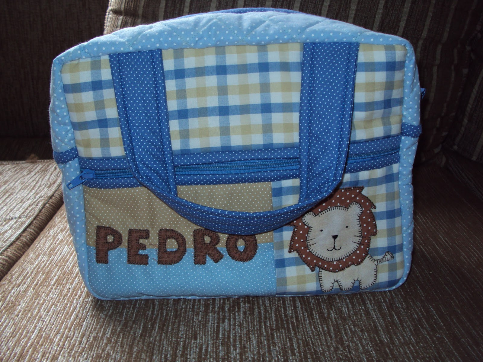 Bolsa Del Embrion Pequeña : Maria patchwork e cia bolsa beb? pequena menino