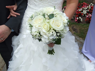 Crystal Flowers Beautiful Ivory Bridal Bouquet