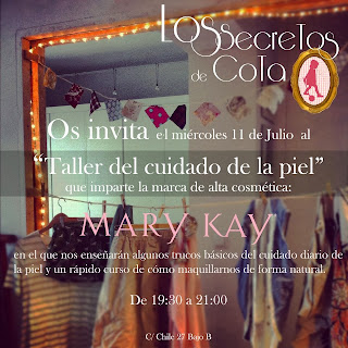 Flyer para evento Los secretos de Cota y Mary Kay