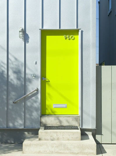 ... the garage side of the door. My inspiration was the exterior colour palette of a Philadelphia (US) townhouse development in 2008 grey and neon yellow. & Keeping Up in Canberra: Project - Neon-ifying the garage door