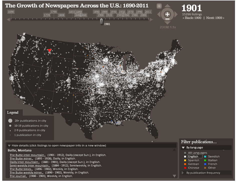 When I First Saw This Map I Thought Cool Map Might Be Neat For Showing Students How Mass Communication Has Changed Over The Last 300 Years
