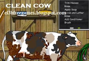 لعبة تنظيف البقرة