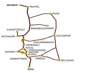 Goa to Malvan Road Map